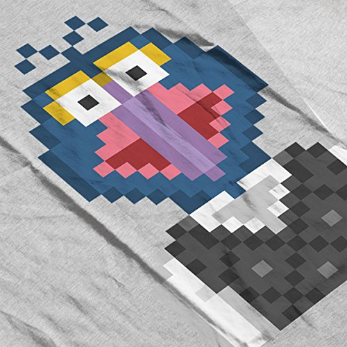 Gonzo The Muppets Pixel Character Women's T-Shirt Heather Grey