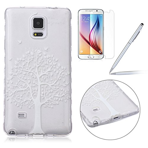 Felfy-Samsung-Galaxy-Note-4-CoqueSamsung-Note-4-Bling-Case-Ultra-Slim-Silicone-Etui-Souple-Coque-Etui-Clair-Silicone-Case-Transparent-TPU-Briller-Cristal-Glitter-Transparent-Ultra-Thin-Rubber-Cover-Cl