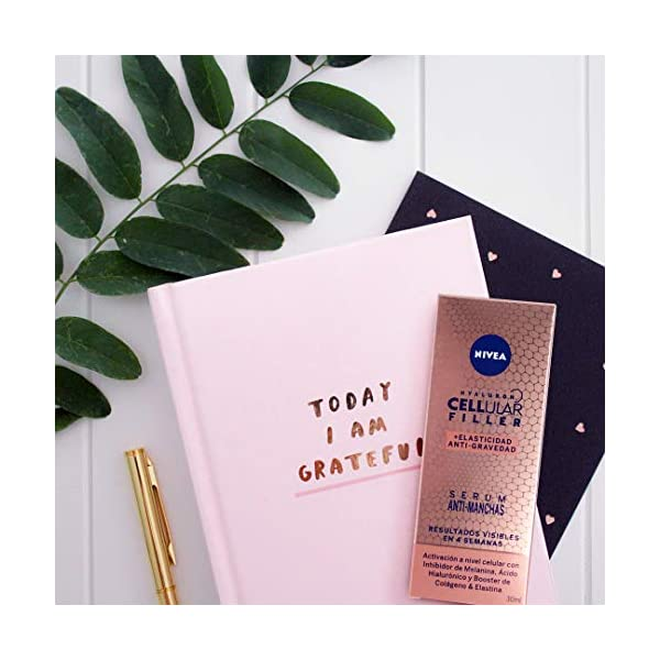 NIVEA Hyaluron Cellular Filler + Elasticidad y Antigravedad Serum Antimanchas (1 x 30 ml), sérum con ácido hialurónico para reducir las arrugas, sérum facial antiedad