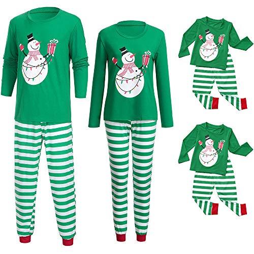 (Riou Weihnachten Set Baby Kleidung Pullover Pyjama Outfits Set Familie Frohe Weihnachts kostüme Santa Junge Mädchen Familien Pyjamas Set 2Pcs Schlafanzug (2XL, Mom))