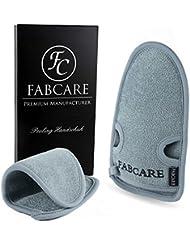 FABCARE Peelinghandschuh rau für Körper & Gesicht aus Bambus – Reinigt Porentief – Peeling Handschuh für Hamam & Dusche – Massagehandschuh Grob für Körperpeeling (1 Stück)