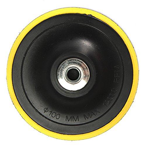 XZANTE Polierteller Stuetzteller Schleifteller Klettteller M14 Fuer Poliermaschine Neu K1 Gewindedurchmesser:100MM