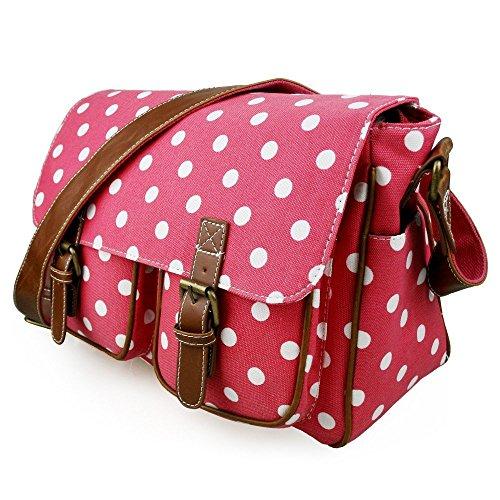 Miss LuLu Crossbody-Tasche Schulranzen Schultasche für Arbeit Reise Shopper Unisex D2/Rosa
