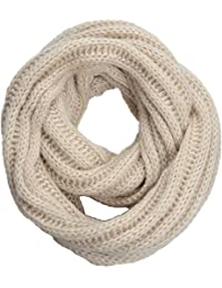NEOSAN NEOSAN Women s Men Thick Winter Knitted Infinity Circle Loop Scarf  ST Khaki 88a4cf7bc40f