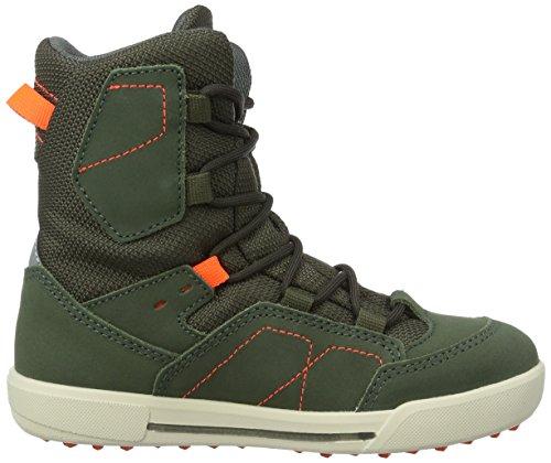 Lowa Raik Gtx Mid, Chaussures de Randonnée Hautes Mixte Enfant, Rot, Taille Unique Vert (oliv/neon orange)