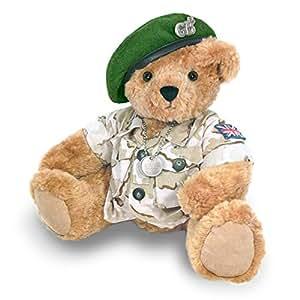 Ours en Peluche Soldat avec un Béret Vert - the Great British Teddy Bear co