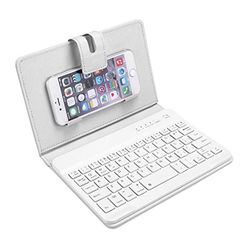 OverDose Leder mit abnehmbarem Bluetooth Tastatur Tastaturen für 5-7inch IOS, Android (18 Kostüme Android)