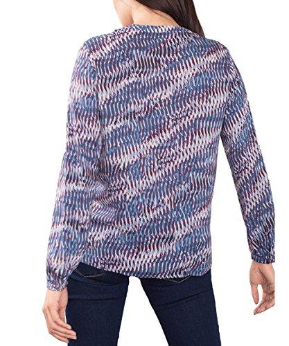 ESPRIT Collection Damen Bluse Blau (DARK BLUE 405)