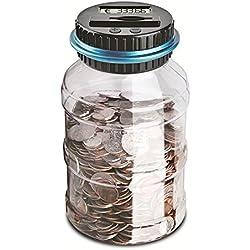 Caja de recuento de monedas, Caja de billetes Moneda digital, Gran capacidad de regalo para niños (euros)