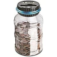 Preisvergleich für Atimier Digitale Spardose per EUR, Automatischer Münzzähler Geldkassette für Kinder und Erwachsene, Geldbank sicher Münzsparend Abfallbehälter LCD-Display und großem Fassungsvermögen
