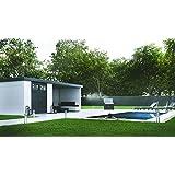 NOVO HABITAT Caseta de Jardin metálica NH7 con Apoyo | Blanco | (298 x 238
