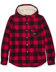 Rip Curl Eskimo Ls Overshirt - Camisa para niño, color rojo, talla 14