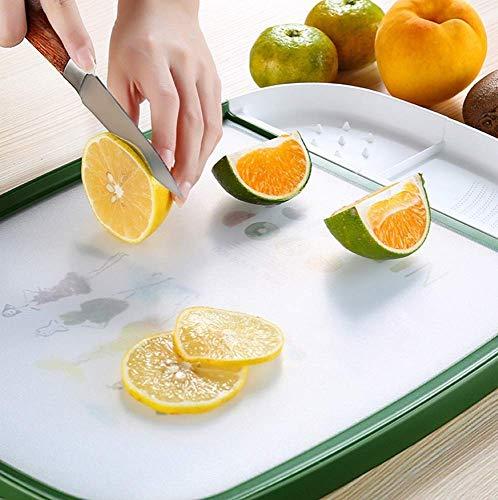 WXCCK Ultimatives Schneidebrett Aus Holz Für Die Küche Auf Beiden Seiten Der Küche Befindet Sich EIN Schneidebrett Zum Abtropfen Von Obst Und Gemüse
