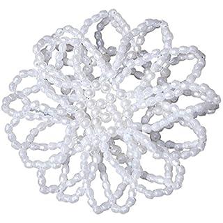 Reitsport Amesbichler Harry`s Horse Perlenhaarnetz elastisch Farbe: weiß Haarnetz Dutt Duttnetz Haarnetz Knotennetz Netz