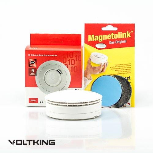 Ei Electronics Ei650 10 Jahres Rauchmelder Lithiumbatterie + Magnetolink, 8-er Set, Ei 650