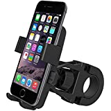 AlexVyan One Touch Quick Release Adjustable Black Universal Bike Motorcycle Cycle Mount Holder Mount Bracket 360° Degree Rotate For Phone Mobile Bicycle Handlebar Mobile Phone Holder Cradle Clamp With 360 Rotation For Any Size Apple IPhone Samsung Son