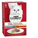 Gourmet Mon Petit Katzenfutter Fleisch und Fisch, 8er Pack (8 x 6 x 50 g)