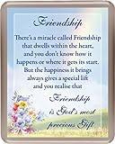 "Fridge Magnet- FRIENDSHIP - ACRYLIC - 3"" x 3 3/4"""