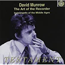 Art of the Recorder by David Munrow (2005-06-14)