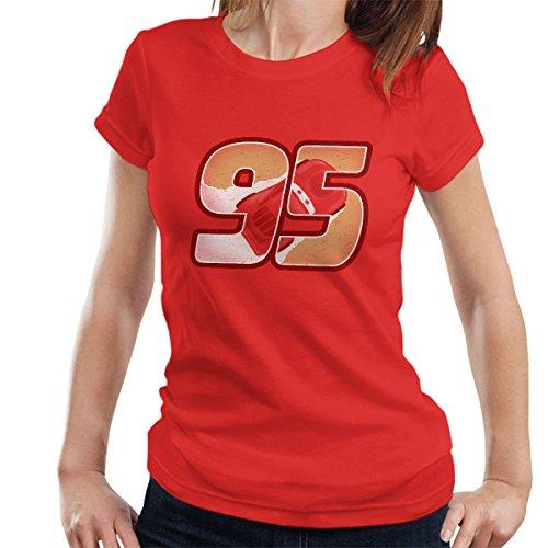 Cars Lighting McQueen 95 Women's T-Shirt red