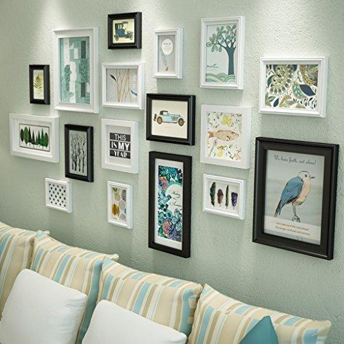 Global- Conjunto de 17 marcos de cuadros múltiples Conjunto de marcos de fotos de madera DIY Marco de pared modernos Pared de marco colgante grande ( Color : #1 )