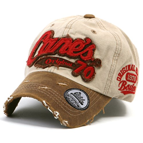 ililily Distressed Vintage Cotton embroidered Baseball Cap Snapback Trucker Hut (ballcap-507-6) (507 Cap)