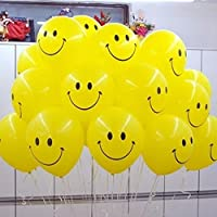 """20 x Smiley Face Balloons 11"""" Spotty LATEX BALOONS Birthday Party Decoration Supplies BALOON"""