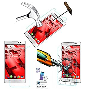 Acm Tempered Glass Screenguard For Panasonic P55 Mobile Screen Guard Scratch Protector