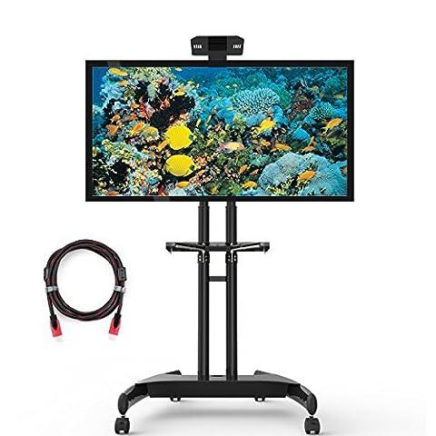 Suptek Professional Mobiler TV-Ständer Standfuß für LCD/LED/Plasma Bildschirme 32-70 Zoll max. 45,5kg mit Kamera- und (A / V Per Montaggio A Parete Sistema)