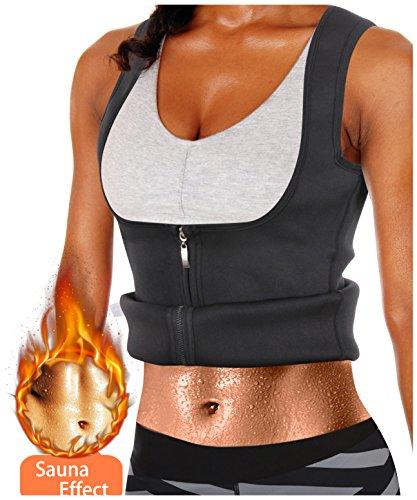 Gotoly Damen Corsage Korsett Bauchweg Training Taillenkorsett abnehmen Shirt Taillenformer Fitness (Schwarz, S Für 40-42) (Im Tv Wie Gesehen-bh)