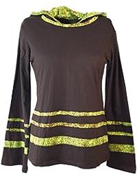 Colour marrón Langarmshirt Boho-Chic - / suéter, Longsleeves & sudor-shirts