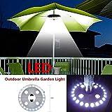 Mallallah Lampe pour Parasol Éclairage 28 LED Spot Lumineux sans Fil avec 3 Modes d'Eclairage pour Patio Camping Jardin Plage Restaurant en Plein Air Eclairage d'Urgence, Alimenté par 4 AA Piles