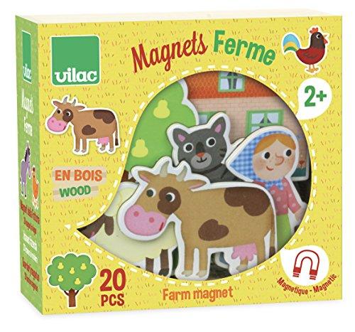 Vilac–8027–Magnete mit Bauernhofmotiven aus Holz