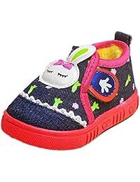 Zapatos Para Bebé,Xinantime Primeros Conejo Niños Niñas Invierno Pasos (19, Azul)