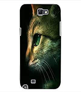 ColourCraft Cute Cat Face Design Back Case Cover for SAMSUNG GALAXY NOTE 2 N7100