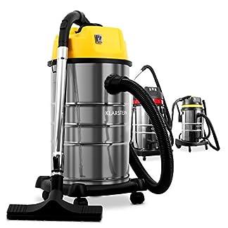 Klarstein IVC-30 IVC-50 Aspiradora Industrial IVC-30 (Aspiración Seca y húmeda, Sin Bolsa, Filtro HEPA, Tanque 50L, Doble Motor de 2000W, Protección IPX4) – Metal