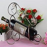 Make-up-Rahmen MEILING Ahornblatt Rotwein Rack Champagner Flasche Rack Lagerung Halter Bar Display Regal Home Decoration Platz, Wo Dinge im Wohnzimmer platziert Werden