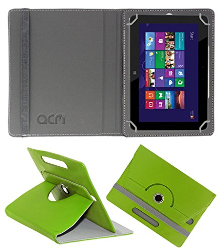 Acm Rotating 360° Leather Flip Case for Hp Omni 10 Cover Stand Green  available at amazon for Rs.189