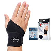 Doctor Developed Premium Copper Lined Wrist Support / Wrist Strap / Wrist Brace / Hand Support [Single] & DOCTOR WRITTEN HANDBOOK— RELIEF for Wrist Injuries, Arthritis, Sprains & More