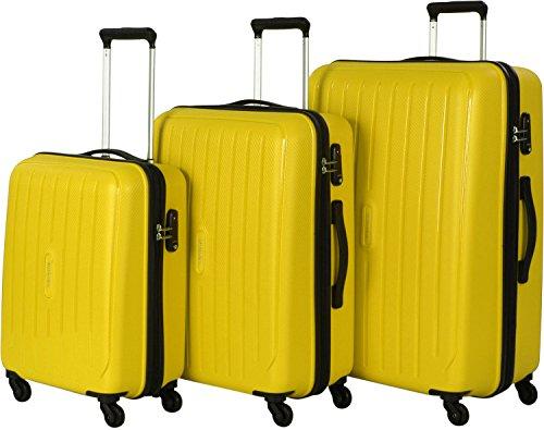 Travelite 'Uptown' 3 pcs jaune Koffer-Set, 75 cm, 113 liters, Gelb, 72240-89