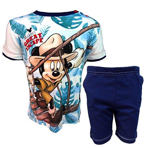 Disney completo neonato mezza manica pantaloncino mickey nuova collezione art. wd101314 (marine, 24 mesi)