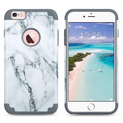 iPhone 6s Plus Hülle (5,5 Zoll), ULAK iPhone 6 Plus hülle Slim Fit Hybrid Silikon Tasche für iPhone 6s Plus / 6 Plus 5,5 Zoll(Grau) Grau