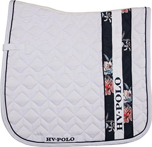 HV Polo Schabracke Cherita Blumenstreifen auffällige Steppung DR + VS (Warmblut VS, optical white)