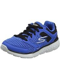Skechers Microburst-Topnotch, Zapatillas sin Cordones para Mujer, Azul (Navy), 36 EU