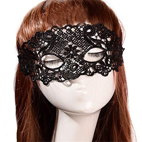 Zorux Sexy Babydoll Sexy Dessous Schwarz Weiß Rot Hohl Spitze Maske Erotische Kostüme Frauen Sexy Dessous Hot Cosplay Party Masken Style 1 Black (Oper Phantom Der Kostüm Frauen)