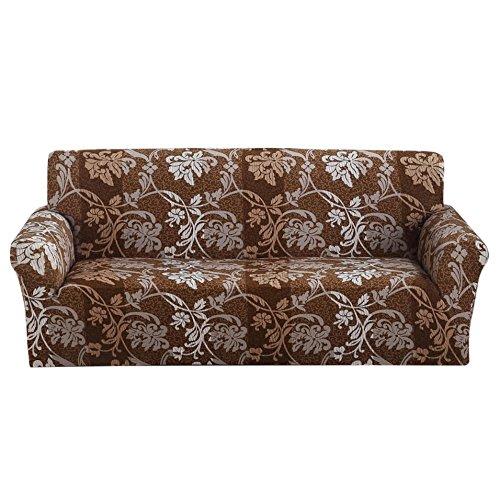 Floreale stampato copridivano antiscivolo elastico fodera in poliestere tessuto morbido tratto furniture protector couch cover, 2 posti