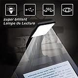 Lampe de Lecture OMOUP USB Rechargeable Lampe Avec Pince Lampe Livre Lampe de Lecture Flexible Livre Lire LED Lampe de Lecture 4 Luminosité Réglable de Conception pour livres,kindle, iPad, eReaders