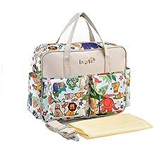 Moda Diseñador Floral Impermeable Mochila Pañal de Bebé Bolso Cambiador Totalizador de Momia Bolsas de Hombro