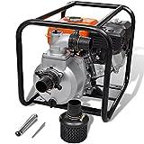 vidaXL 5,5PS Benzin Schmutzpumpe Wasserpumpe Gartenpumpe Kreiselpumpe Teichpumpe