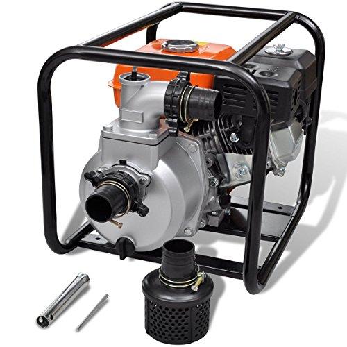 vidaXL 5,5 PS Benzin Schmutzpumpe Wasserpumpe Gartenpumpe Kreiselpumpe Teichpumpe